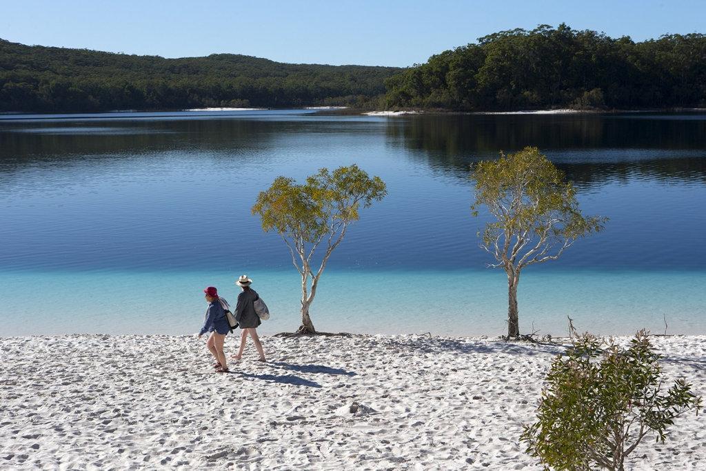 Lake McKenzie on Fraser Island.