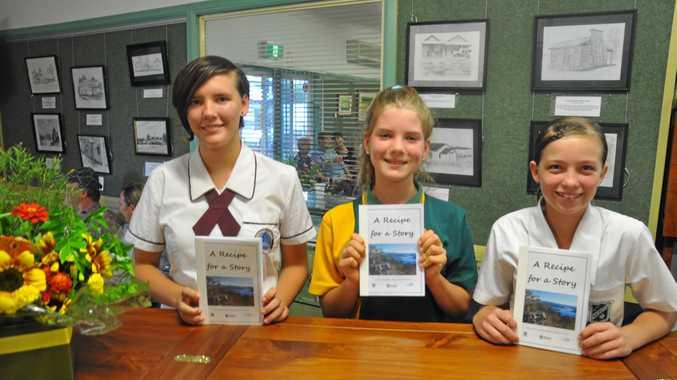 Bridget Zlotkowski, Trinity Darrow and Namakyla Myles at the launch of Recipe for a Story.