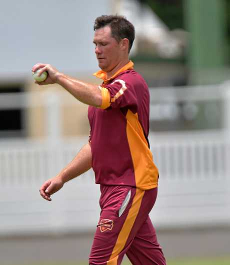 IN ACTION: Stephen Shaw ready to bowl for Tewantin/Noosa