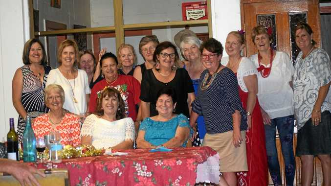 The Mundubbera Jaycettes held their end-of-year Christmas party at Gayle and Dudley Pott's place.