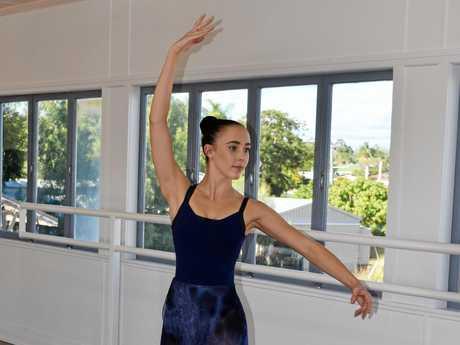 Karla Lovell at her dance studio in Biloela