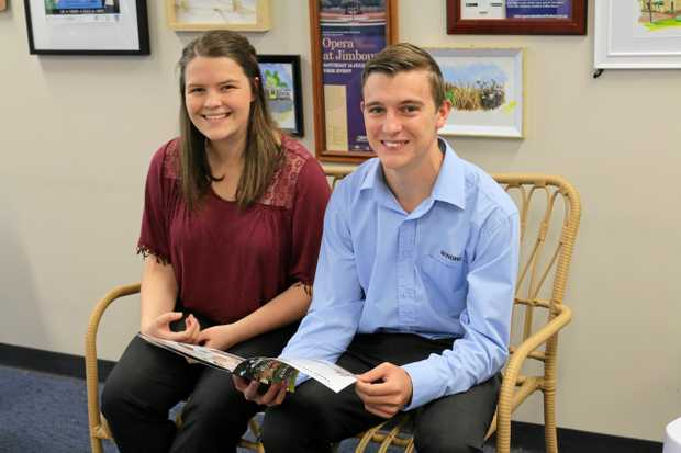 AWARDED: Last year's Community Spirit Bursary recipients Renee Burt and Will Gillespie are enjoying the opportunity to earn and learn with Council.