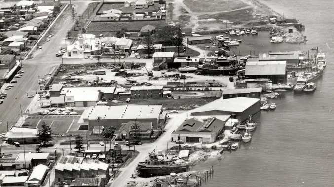 An aerial view of the Ballina Slipway, which covered the area from Fawcett Park through to the Ramada Hotel and Suites.