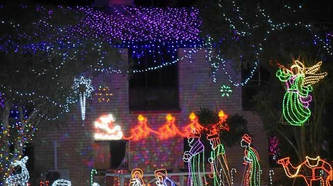CHRISTMAS CHEER: Kauri Latza has spent more than 3.5 weeks decorating her Mundubbera home ready for Christmas.