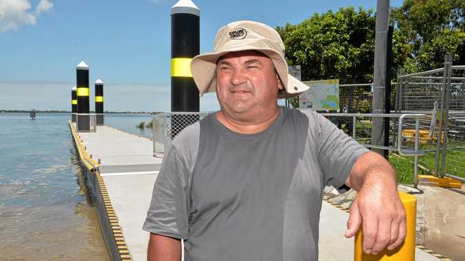 IMPRESSED: Gavin Boyd said he was more then satisfied with the new upgrade to the River Street Boat Ramp.