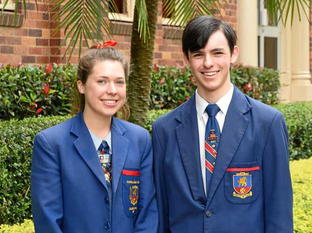 SENIOR SUCCESS: At the Downlands College senior awards ceremony is Evaleen Donaldson, who won the Humanitas Award, and Mitchell Ryan, the 2017 College Dux.