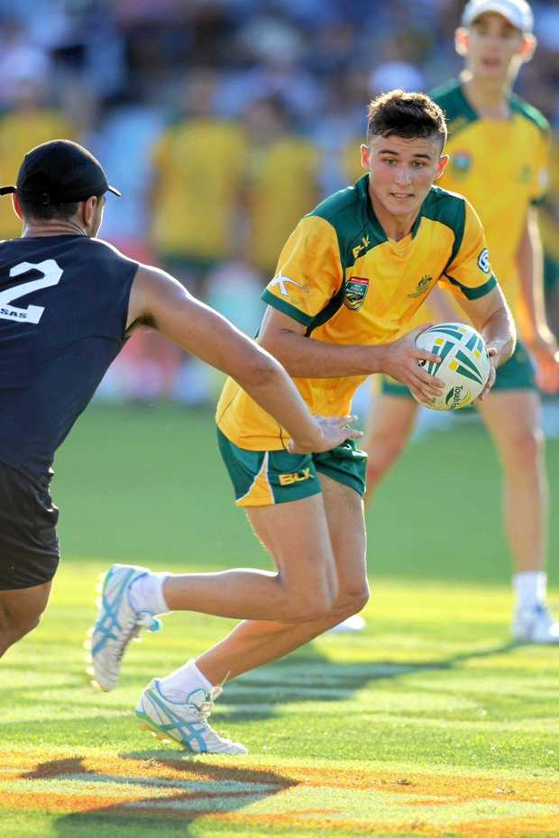 DUTY CALLS: Justin Cridland will swap the green and gold for Cowboys' colours is off to New Zaland to represent the Australian under-19 team.