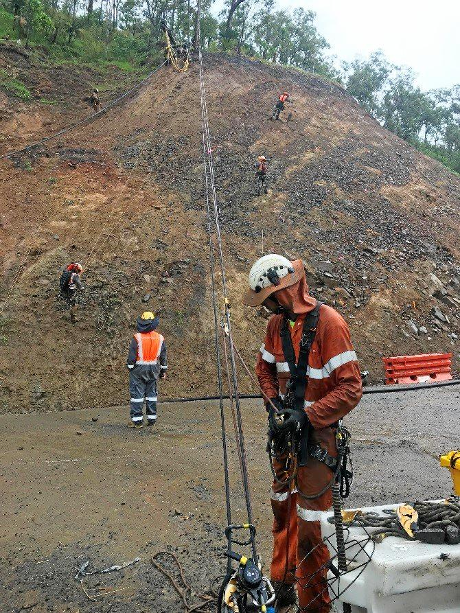 The Department of Transport and Main Roads is undertaking works at Sarina Range.