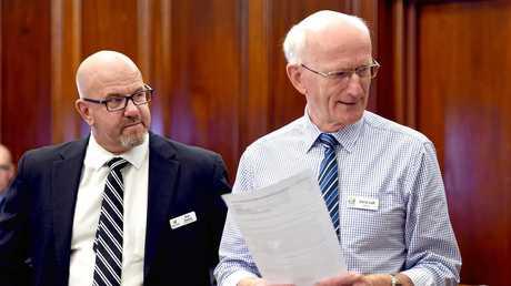 Fraser Coast Regional Council meeting, Maryborough.  CEO Ken Diehm and Mayor Chris Loft.