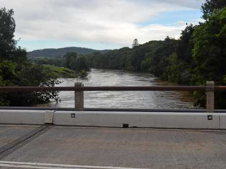 The Mary River has experienced minor flooding after two days of heavy rain.