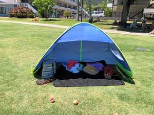Council clamps down on pegged shade tents