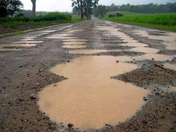 Mt Ossa-Seaforth Road after heavy rain.