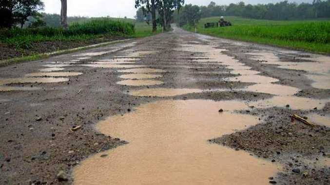 Mt Ossa-Seaforth Road after heavy rain.