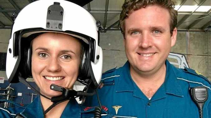 TAKEN TOO SOON: Gympie-based paramedic Leeah McNally and her partner Ben Phelps.