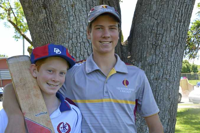 CRICKET SIBLINGS: Callum (left) and Morgan Galvin will both play cricket for Queensland early next year.