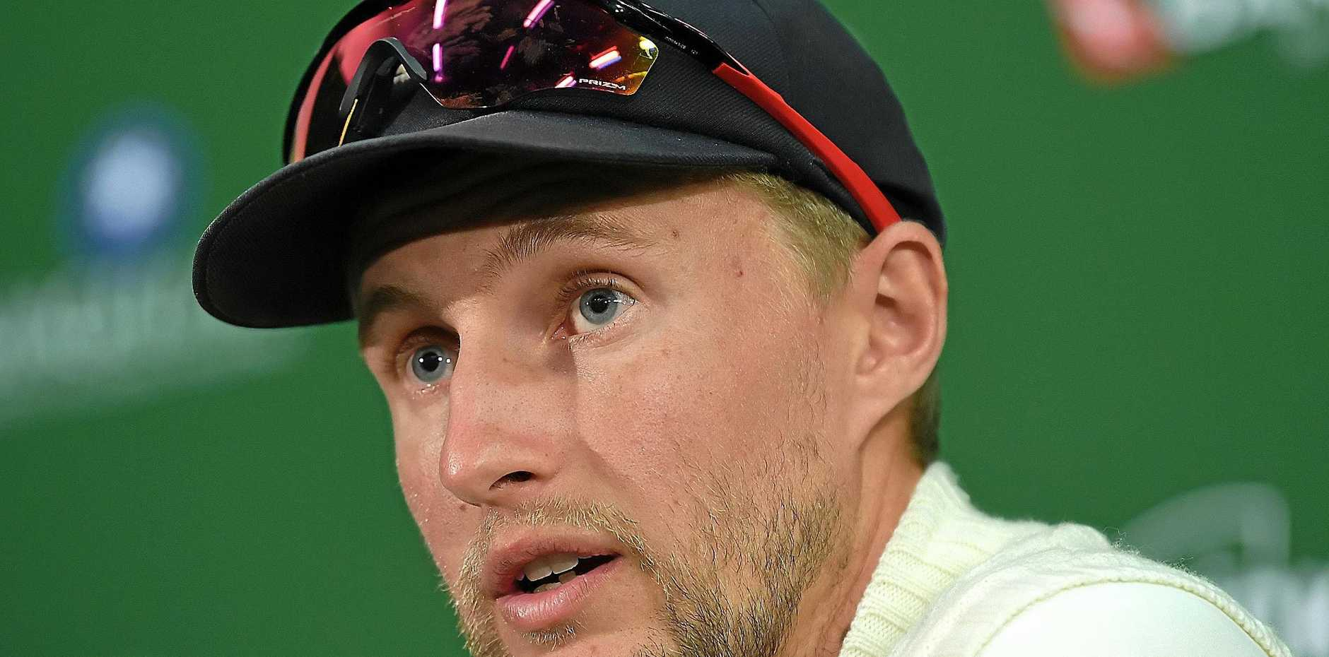 Joe Root speaks after England's loss to Australia in the second Ashes Test at the Adelaide Oval.