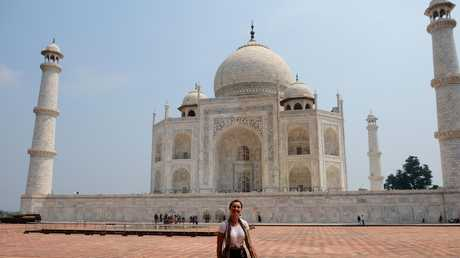 Journalist Sally Coates in India on a Hands on Journeys empowerment tourism tour. Photo: Whitney Taylor