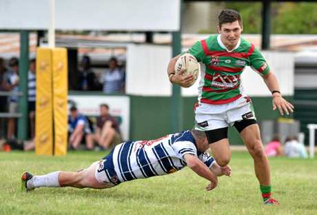 GONE: Billy Stefaniuk was one of the Bundaberg Rugby League's most prolific finishers when he played for Hervey Bay Seagulls. He will join The Waves Tigers in 2018.