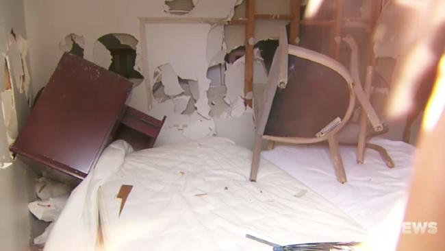 Party causes $150,000 worth of damage to beachfront home in Melbourne. Picture: Channel 9
