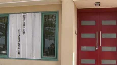 Doors were ripped from their hinges, plaster walls were filled with holes, windows were smashed and furniture was vandalised. Picture: Channel 9