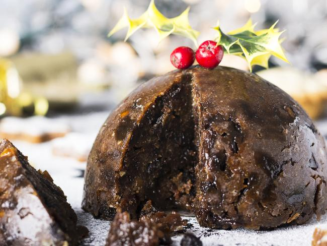For dessert they have Christmas pudding with brandy sauce