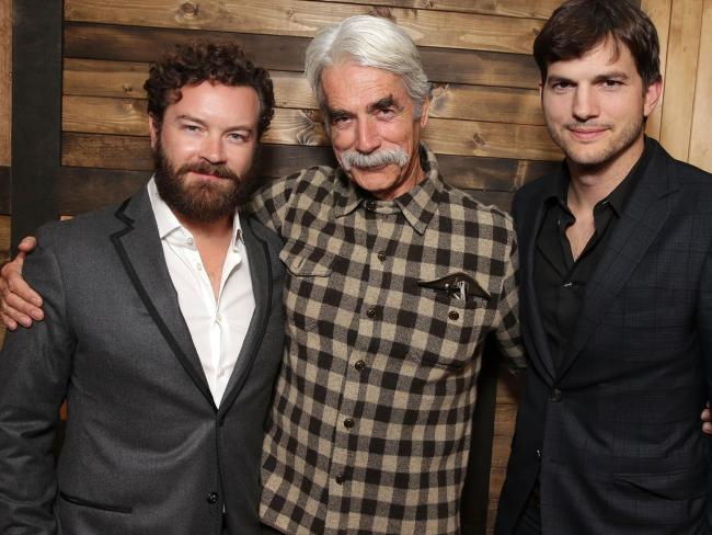 Danny Masterson, Sam Elliott and Ashton Kutcher at a special screening of Netflix original series The Ranch.  Picture:  Supplied