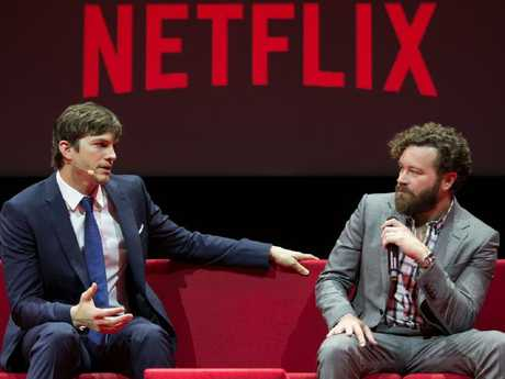 The Ranch stars Ashton Kutcher and Danny Masterson. Picture: Supplied