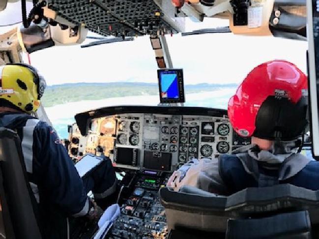 View from the cockpit. Picture: Twitter