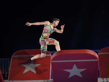 Contestant Laura Edwards in Best Light Entertainment Series winner Australian Ninja Warrior. Picture: Channel 9