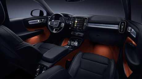 XC40: Clever interior storage.