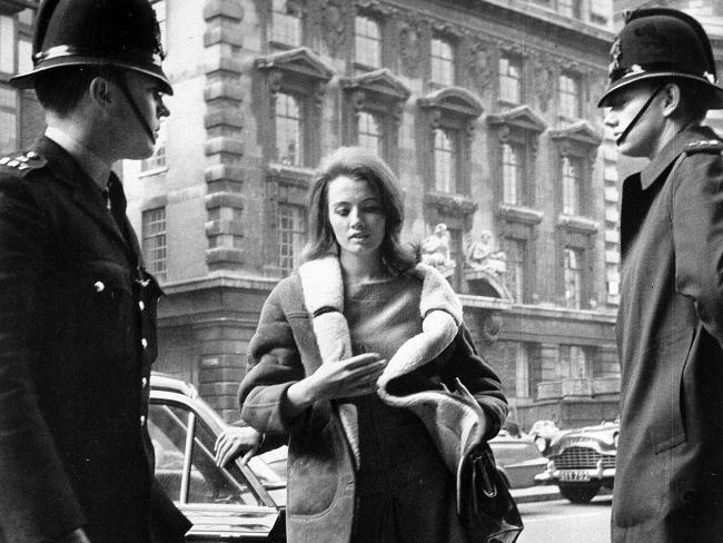 Christine Keeler was jailed for nine months for perjury in relation to the affair. Picture: AP