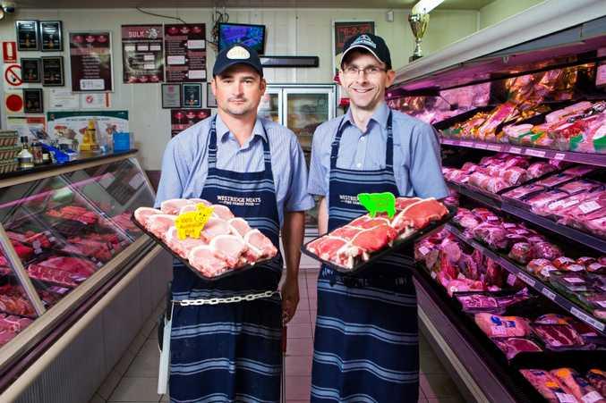 Kerry Brisbane and Luke Jensen with their award-winning ham.