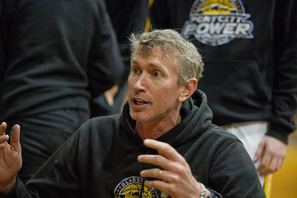 MISSING: Blair Smith coaching Port City Power.