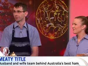 Toowoomba butchers show off Oz's best ham on Sunrise