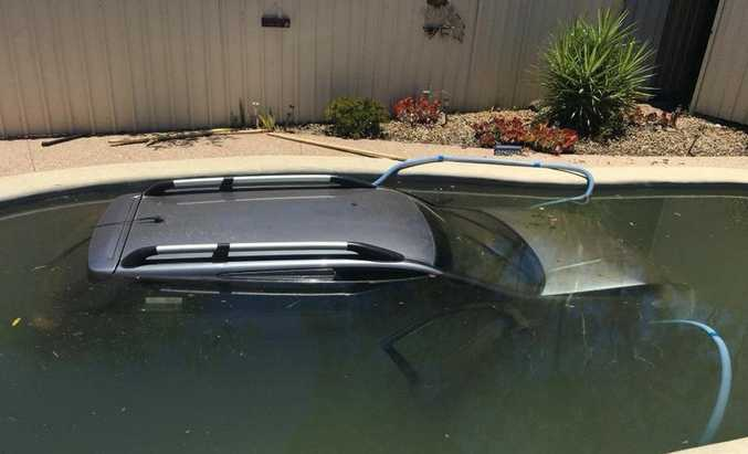 A car ended up in the pool of a Pittsworth home.