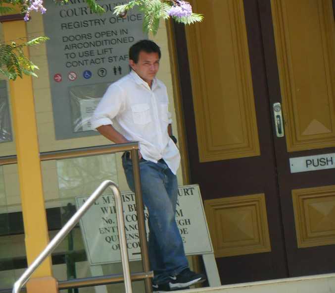 Jamie Aaron Morphus, 35, of Granville, leaves Maryborough District Court.