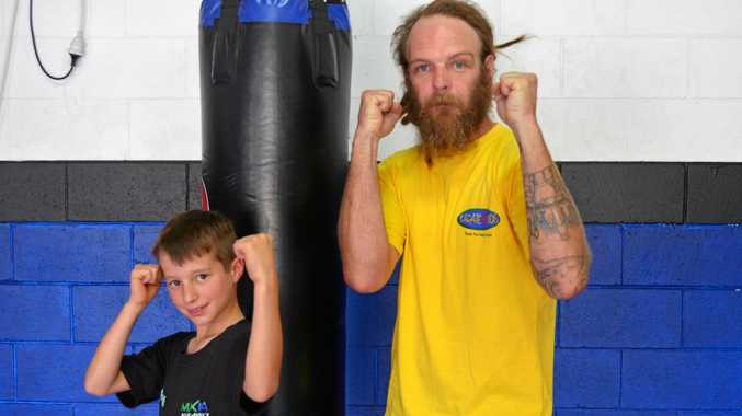 DEBUT: Kyle Josai and Mick Scott are ready for their first fights at the Kingaroy Town Hall on Saturday night.