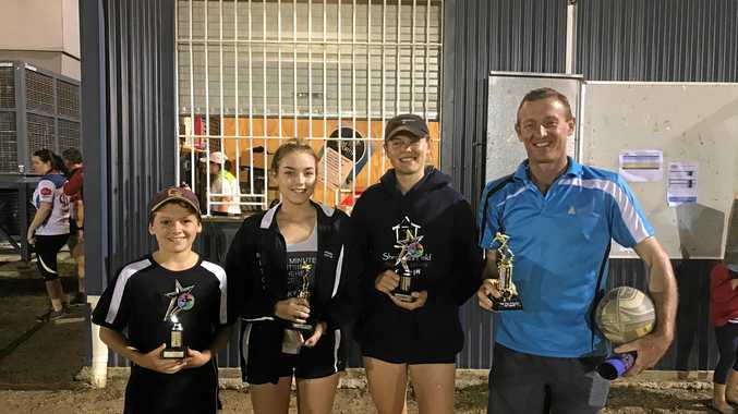 Dylan Nobbs, Chloe Carmichael, Sophia Walton and Pat O'Brien at the Dalby Touch Association grand finals last week.