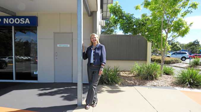 Sandy Bolton outside her new office at Noosa Civic