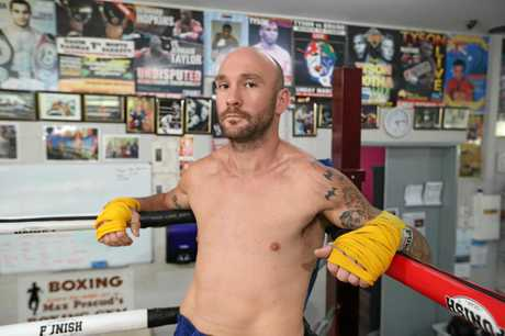 BACK IN ACTION: Gold Coast boxer Troy Harding has lost 40kg after a deathbed wish from his dad to get back into the sport. He has a fight in Yamba coming up at the weekend.