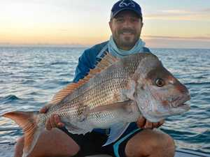 SUCCESS STORY: Jeremy Hoover showing the results of micro jigging with a monster snapper.