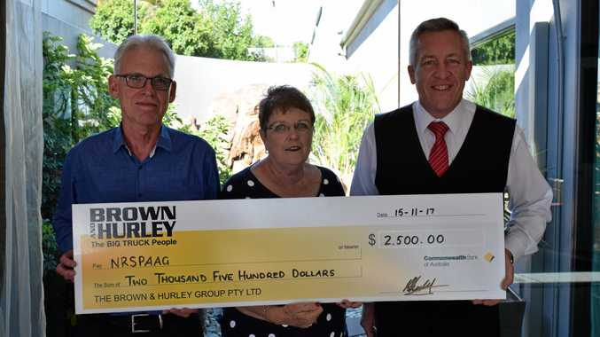 The annual Brown and Hurley golf fundraiser has raised $2500 for the Northern Rivers Suicide Prevention and Awareness Group. From left Ted Hoddinott, Dot Orchard and Sam Green.