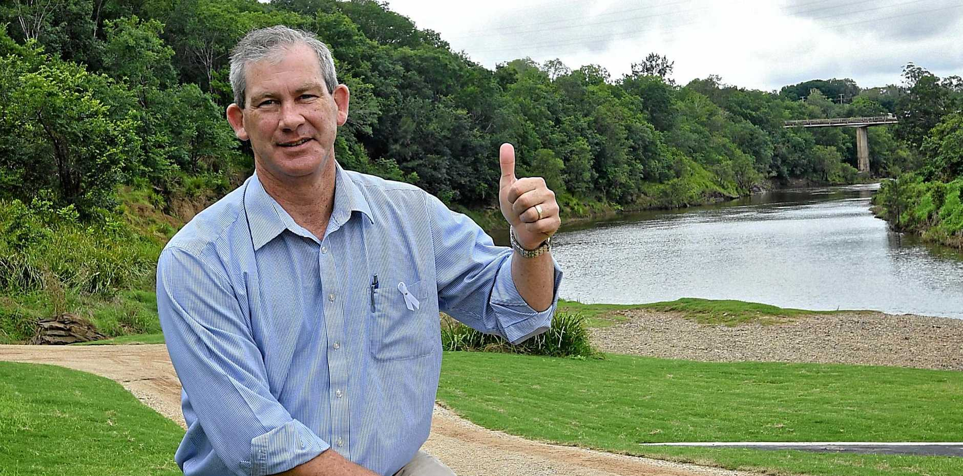 Benefits outweigh risks on River Trail, Gympie Mayor Mick Curran says.