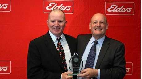 Jason Blackwood, pictured with Elders Limited Managing Director & CEO Mark Allison.