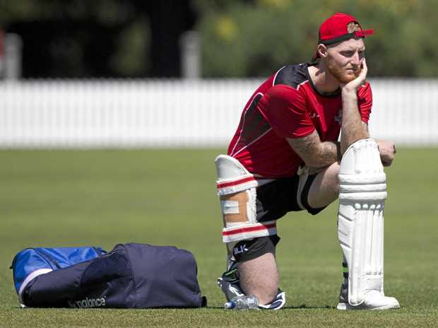 Ben Stokes waits for his turn in the nets during a training session with the Canterbury team in New Zealand.