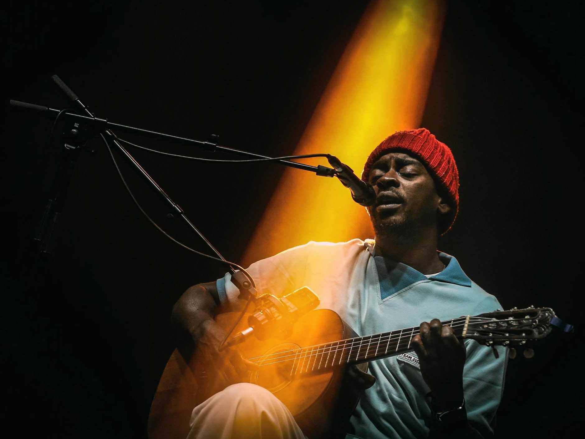 Brazilian musician Seu Jorge performs on the third and last day of the Super Bock Super Rock music festival in Lisbon, Portugal, 15 July 2017.  EPA/MRIO CRUZ