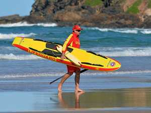 What caused the 'mass rescue' at Coolum Beach