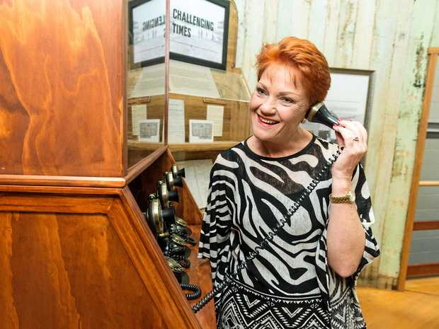 Pauline Hanson seems to be getting the message across to Australia Post bosses that Gracemere wants a postcode change.