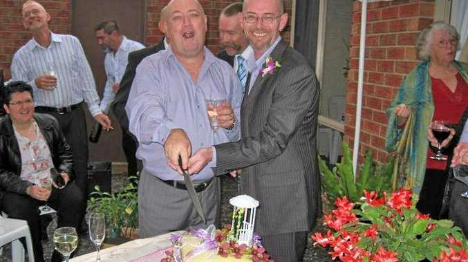 LOVE WON: David Faulkner and his partner of 17 years Michael Young plan to get married as soon as possible.