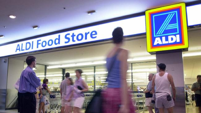 Discount supermarket chain Aldi. Picture: Rohan Kelly